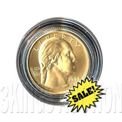 Gold $5 Commemorative 1999 George Washington BU