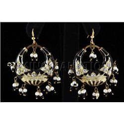 14.04GRAM INDIAN HANMADE LAKH HOOP FASHION EARRING