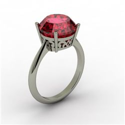 Garnet 5.75 ctw Ring14kt White Gold