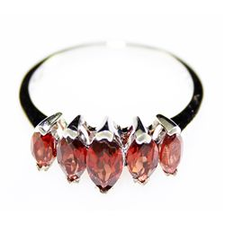 Sterling Platinum 2.2 ctw Garnet Ring