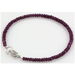 24.96ct Single Micro Faceted Natural Ruby Bracelet