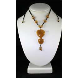 Natural 109.79ctw Heart Dangling Jade Necklace