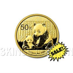 Chinese Gold Panda 10th Ounce 2012