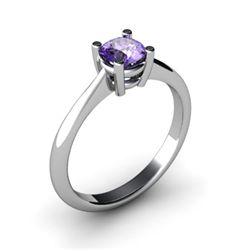Tanzanite 0.56ctw Ring 14kt White Gold