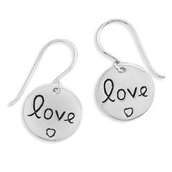 """love"" Tag Earrings"