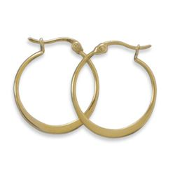14 Karat Gold Plated Hoops