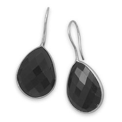 Faceted Black Onyx Earrings