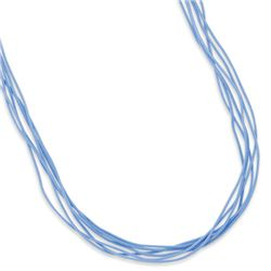 """16""""+2"""" Extension 6 Strand Turquoise Color Cord Necklace"""