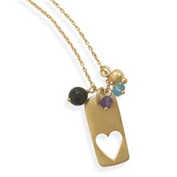 "16"" 14 Karat Gold Plated Charm Necklace"