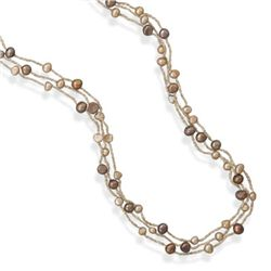 "39"" Triple Strand Cultured Freshwater Pearl Necklace"