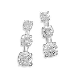 3mm/4mm/5mm Round CZ Post Earrings