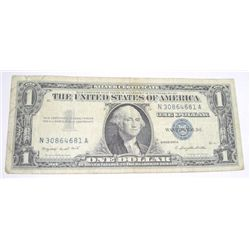 1957 SERIES A $1 SILVER CERTIFICATE SERIAL # N30864681A *PLEASE LOOK AT PICTURE TO DETERMINE GRADE!!