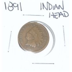 1891 INDIAN HEAD PENNY *NICE PENNY-PLEASE LOOK AT PICTURE TO DETERMINE GRADE*!!