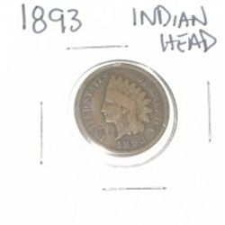 1893 INDIAN HEAD PENNY *NICE PENNY-PLEASE LOOK AT PICTURE TO DETERMINE GRADE*!!