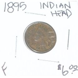 1895 INDIAN HEAD PENNY RED BOOK VALUE IS $6.00 *NICE PENNY-FINE GRADE*!!