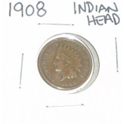 1908 INDIAN HEAD PENNY *NICE PENNY - PLEASE LOOK AT PICTURE TO DETERMINE GRADE*!!