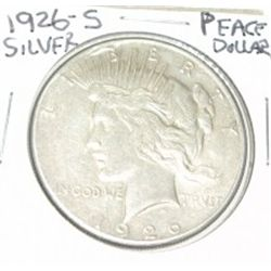 1926-S PEACE SILVER DOLLAR *PLEASE LOOK AT PICTURE TO DETERMINE GRADE*!!