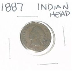 1887 INDIAN HEAD PENNY *NICE PENNY-PLEASE LOOK AT PICTURE TO DETERMINE GRADE*!!