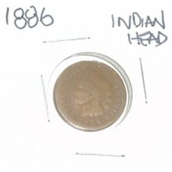 1886 INDIAN HEAD PENNY *NICE PENNY-PLEASE LOOK AT PICTURE TO DETERMINE GRADE*!!