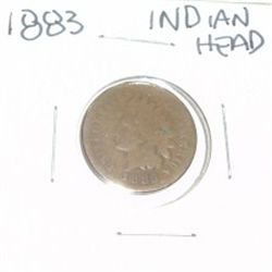 1883 INDIAN HEAD PENNY *NICE PENNY-PLEASE LOOK AT PICTURE TO DETERMINE GRADE*!!