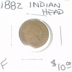1882 INDIAN HEAD PENNY RED BOOK VALUE IS $10.00 *NICE PENNY-FINE GRADE*!!