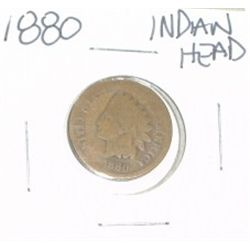 1880 INDIAN HEAD PENNY *NICE PENNY-PLEASE LOOK AT PICTURE TO DETERMINE GRADE*!!