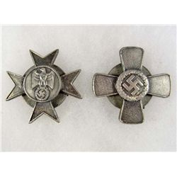 LOT OF 2 GERMAN NAZI BADGES