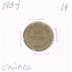 1934 CANADA 1 CENT PENNY *RARE NICE CANADIAN PENNY*!!