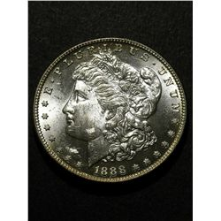 1888 BU MORGAN SILVER DOLLAR, MS