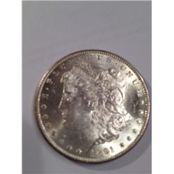 1891 CC MORGAN SILVER DOLLAR MS-63