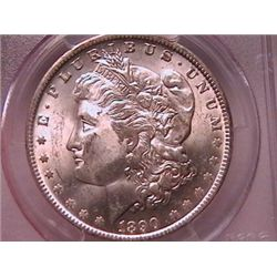 1890-O Morgan Dollar Ch MS63 PCGS
