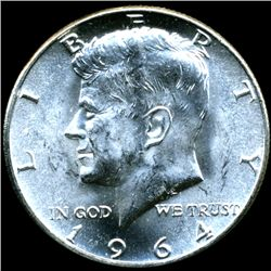 1964 JFK Half MS64/65 Scarce Underweight ERROR (COI-11381)