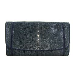 Ladies Stingray Hide Clutch Purse Wallet (ACT-325)
