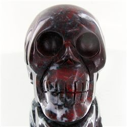 1585ct Hand Carved Agate Skull (MIN-001710)
