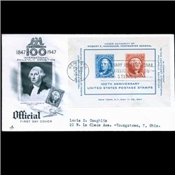 1947 US First Day Exhibition Sheet Postal Cover (STM-2130)