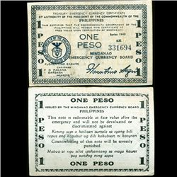1943 WW2 Guerrilla Rebel Philippines 1P Note Mindinao (CUR-07208)
