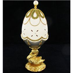 Fabrege Style Decorative Egg Ring Box (DEC-600)