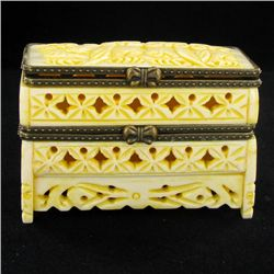 Chinese Handcarved Bone Double Gem Box (CLB-853)