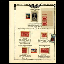 1926 US Stamp Album Page 10pcs (STM-1934)