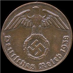 1938E Germany 1pf MS63 (COI-9919)