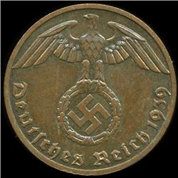 1939F Germany 1pf MS63+ ERROR (COI-9948)