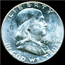 1963 Franklin Half MS63/64 Scarce Underweight ERROR (COI-11292)