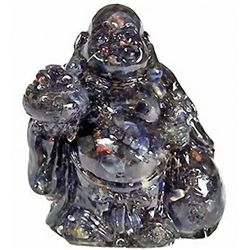 240ct. Blue Sapphire Chinese Happy Buddha Statue (GEM-2680A)