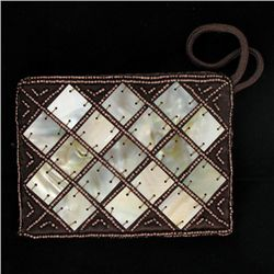 Handcrafted Mother of Pearl Evening Bag (ACT-367)