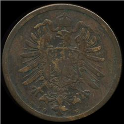 1874F Germany 2pf VF (COI-9794)