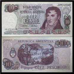 1973 Argentina 10 Peso Note Crisp Uncirculated (CUR-05543)