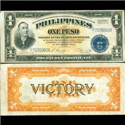 1944 Philippines 1P VICTORY Note Better Grade (CUR-07204)