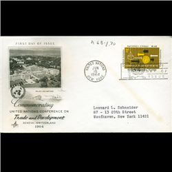 1964 UN First Day Postal Cover (STM-2459)