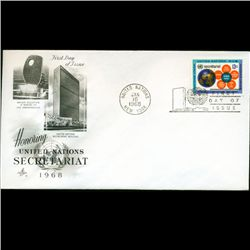 1968 UN First Day Postal Cover (STM-2732)