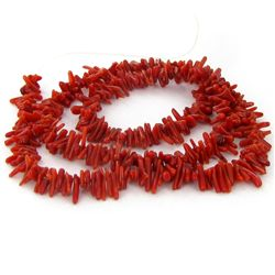 65ct Red Coral Freeform Strand (JEW-4074A)